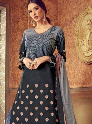 Grey Color Designer Pakistani Suit
