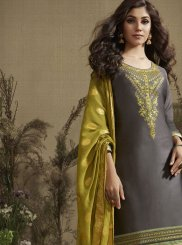 Grey Color Designer Patiala Salwar Kameez