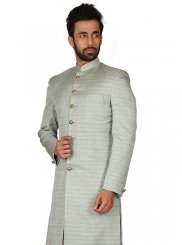 Grey Color Kurta Pyjama
