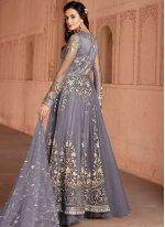 Grey Color Trendy Anarkali Salwar Suit