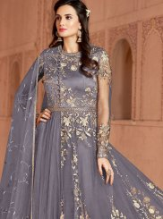 Grey Color Trendy Anarkali Salwar Suit