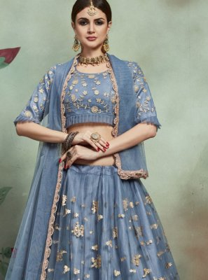 Grey Color Trendy Lehenga Choli