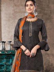 Grey Color Trendy Patiala Salwar Kameez