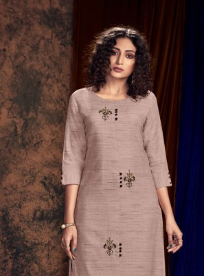 Grey Embroidered Reception Readymade Salwar Kameez