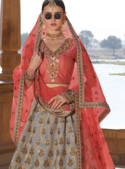 Grey Embroidered Trendy A Line Lehenga Choli