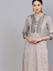 Grey Fancy Casual Kurti