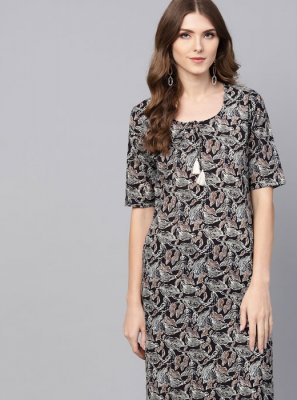 Grey Fancy Casual Party Wear Kurti