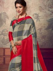 Grey Fancy Fabric Designer Saree