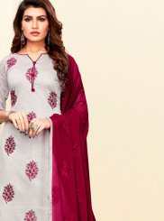 Grey Festival Churidar Suit