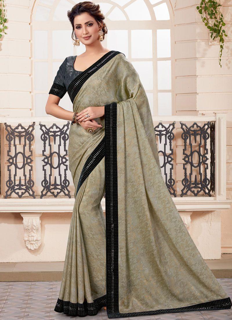 Grey Festival Classic Designer Saree