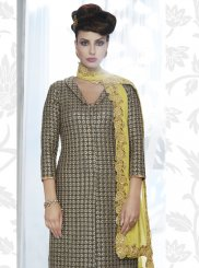 Grey Georgette Designer Salwar Suit