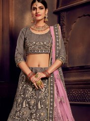 Grey Party A Line Lehenga Choli