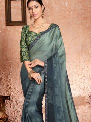 Grey Party Georgette Classic Designer Saree