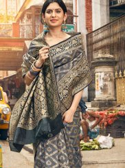 Grey Party Trendy Saree