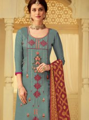 Grey Party Viscose Designer Salwar Suit