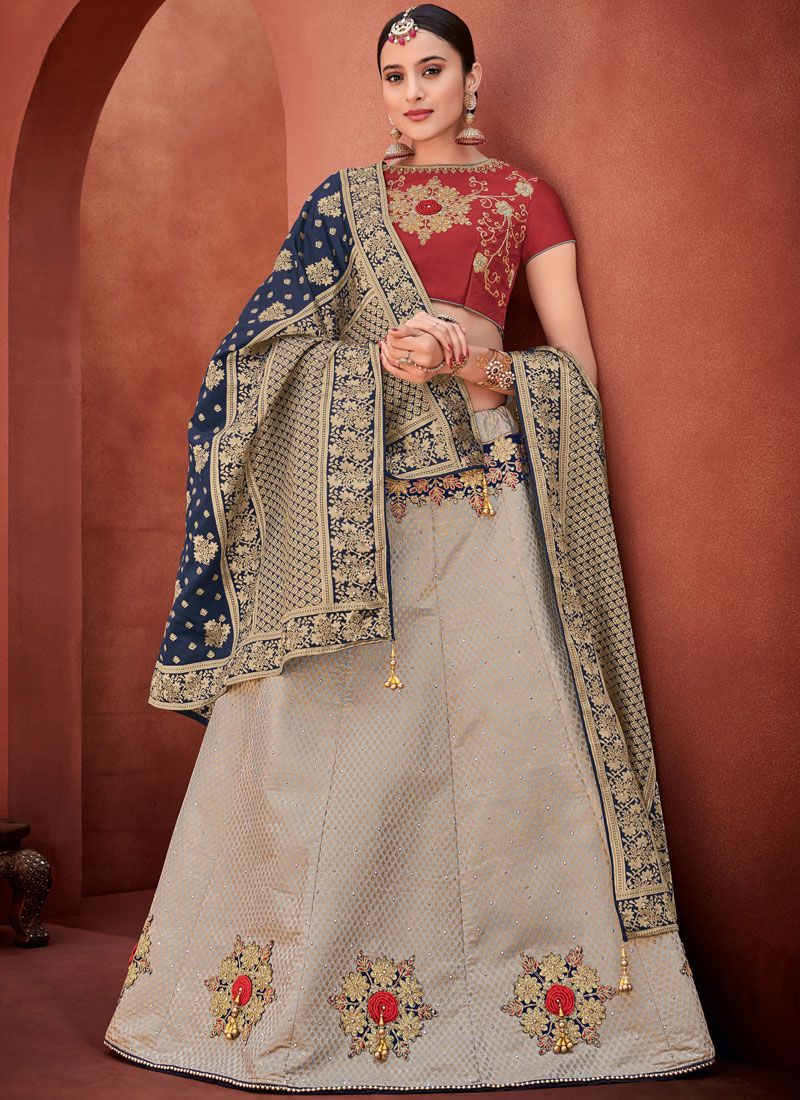 Grey Sangeet Trendy Lehenga Choli