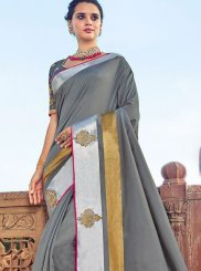 Grey Traditional Saree