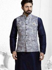 Grey Velvet Festival Nehru Jackets