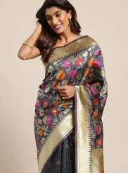 Grey Weaving Casual Saree