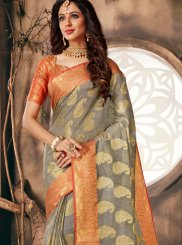 Grey Weaving Classic Designer Saree