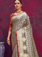 Grey Weaving Classic Designer Saree