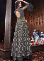 Grey Wedding Floor Length Anarkali Suit