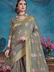 Grey Wedding Traditional Designer Saree
