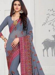 Grey Wedding Trendy Saree