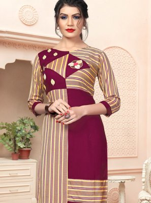 Handloom Cotton Party Wear Kurti in Multi Colour