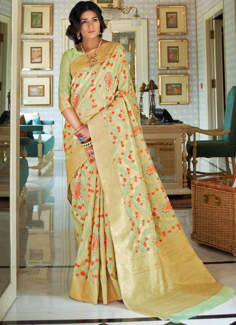 Handloom silk Ceremonial Traditional Designer Saree