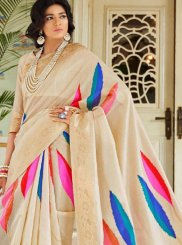 Handloom silk Multi Colour Designer Traditional Saree