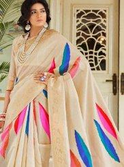 Handloom silk Multi Colour Designer Traditional Saree