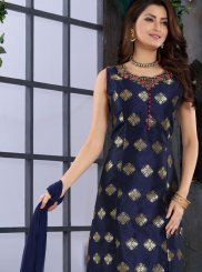 Handwork Party Trendy Churidar Salwar Kameez