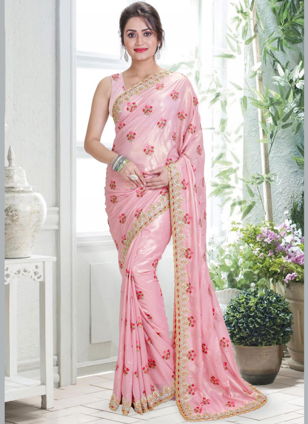 Handwork Tissue Designer Traditional Saree