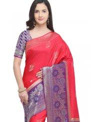 Hot Pink Art Silk Weaving Traditional Saree