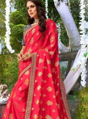 Hot Pink Bridal Designer Traditional Saree