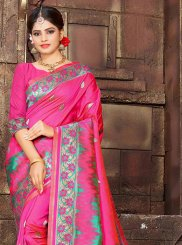 Hot Pink Bridal Traditional Saree