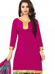 Hot Pink Casual Punjabi Suit