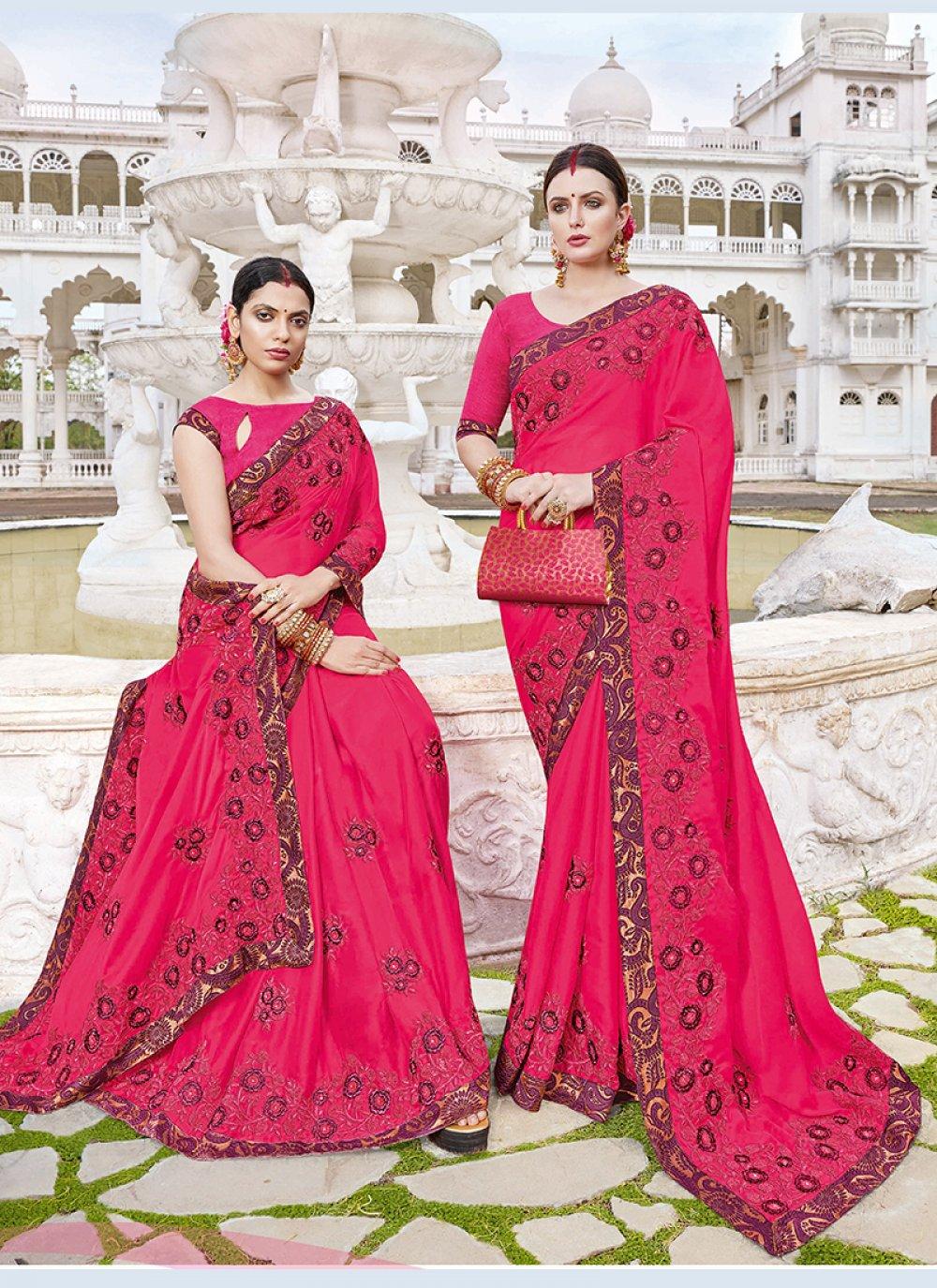 Hot Pink Ceremonial Classic Saree