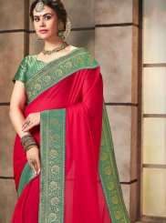 Hot Pink Ceremonial Designer Saree