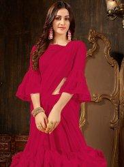 Hot Pink Ceremonial Designer Saree
