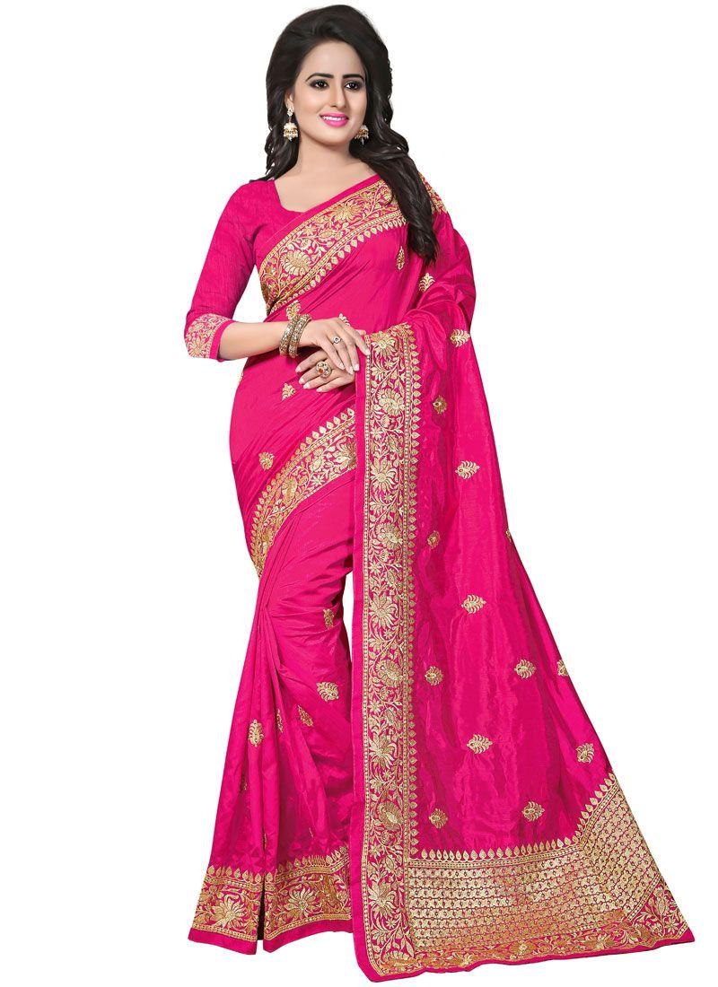 Hot Pink Ceremonial Designer Traditional Saree