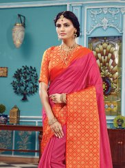 Hot Pink Ceremonial Traditional Designer Saree
