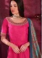 Hot Pink Color Designer Gown