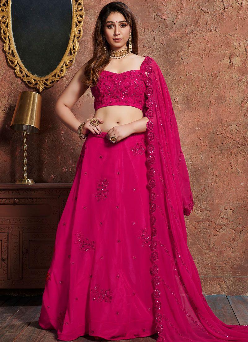 Hot Pink Color Lehenga Choli