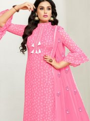 Hot Pink Festival Designer Pakistani Suit
