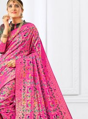 Hot Pink Festival Designer Traditional Saree
