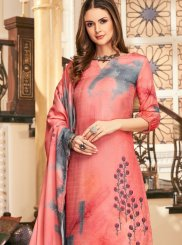 Hot Pink Festival Pashmina Palazzo Suit