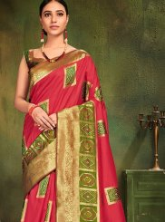 Hot Pink Festival Traditional Designer Saree