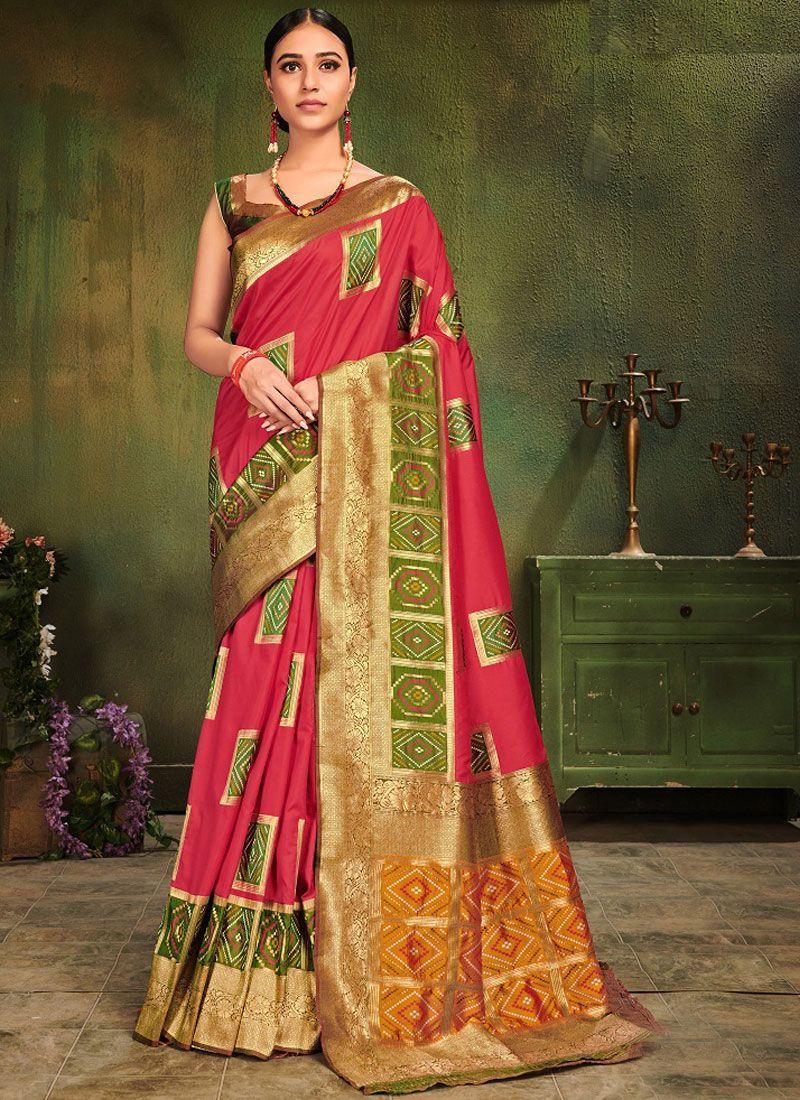 Hot Pink Festival Traditional Designer Saree